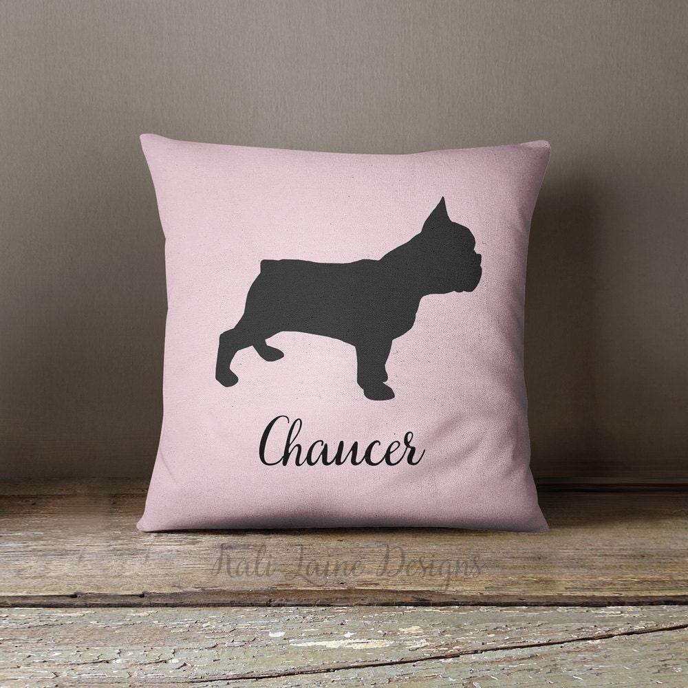 Custom Dog Name Decorative Throw Pillow/ by KaliLainePetWares