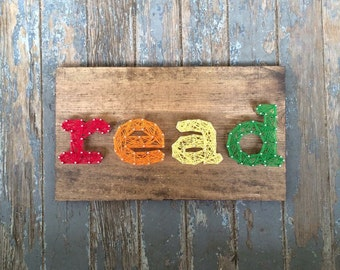 Read String Art Sign, MADE TO ORDER
