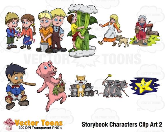 Storybook Characters Clip Art 2 Digital Clipart Digital