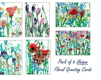 Greeting Cards, Any Occasion Cards, Floral Cards, Art Print Cards, Original Art Cards Prints, Contemporary Cards