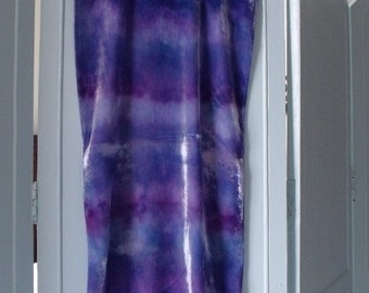 Scarf Shibori bound, Ice Dyed Silk Velvet