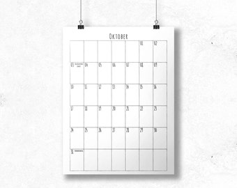 Sketchy Calendar with 16 Months - A3
