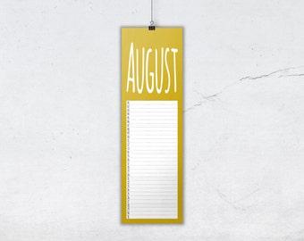 Calendar Colorful 2016