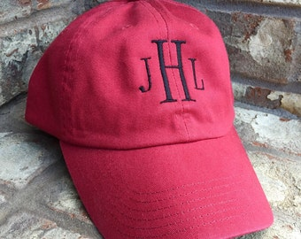 Mens Monogrammed Bio-Washed Cotton Twill Unstructured Baseball Cap