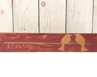 Bird Decor ~ Sign ~Wooden Signs ~ Wood Wall Art ~ Wall Art Wood ~ Rustic Wooden Signs ~ Signs ~ Wood Signs ~ Wooden Wall Art ~ Wall Art