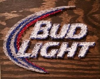 Bud Light String Art Sign, Made to Order