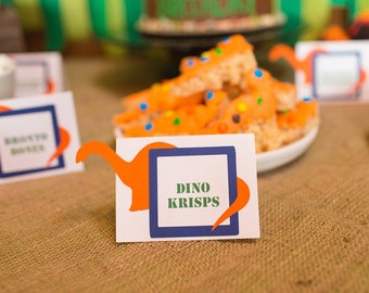 Dinosaur Party Food Labels, dinosaur place cards, Jurassic Park Food Labels, Dinosaur Party, Dinosaur Birthday Decorations, good dinosaur