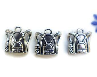 6 Knapsack charms   school bag charms   bag charms   backpack charms   hiking charms   travel charms   school charm   book bag charm   SC910