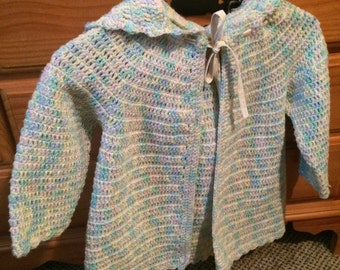 Toddlers crocheted sweater
