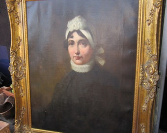 "19th Century Portrait of a Lady   large 30"" x 24"""