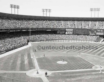 Candlestick Park Photograph Black and White -  Fuji Photo Day