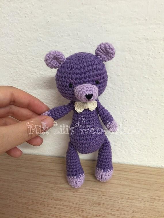 Amigurumi Mini Bear : Amigurumi bear Crochet Teddy bear Cute mini bear doll Stuffed