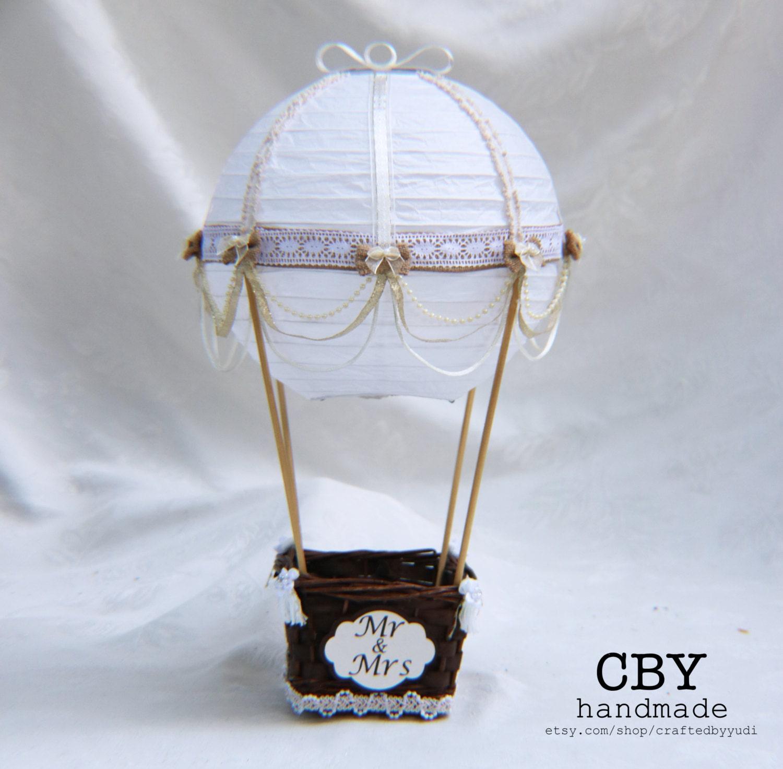Hot Air Balloon Wedding Table Number Centerpiece Hot Air