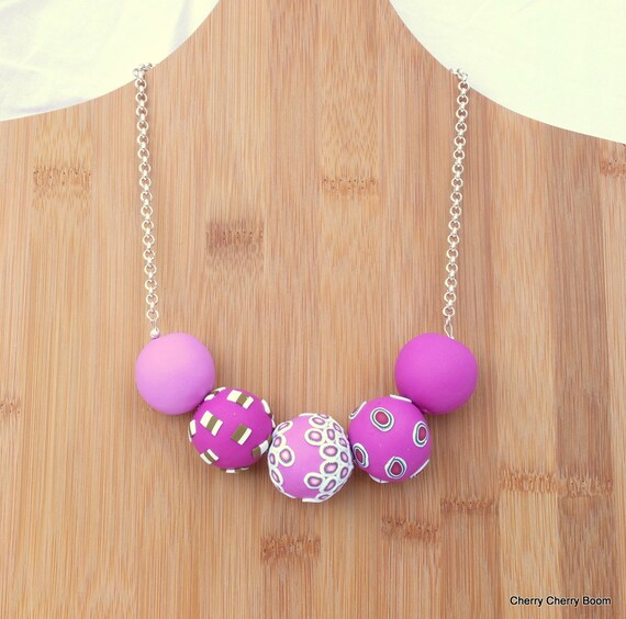Statement necklace, necklace, jewellery, statement, pink, big beads, bold, bib necklace, chunky beads, funky, one of a kind, large beads
