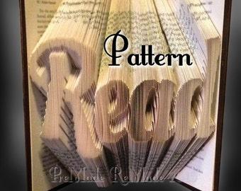 Read v8 - Folded Book Art Pattern - Instant Download!