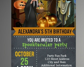 EDITABLE TEXT Halloween Birthday Invitation -   Halloween Birthday Invites -  Halloween Birthday Invite -Instant Download