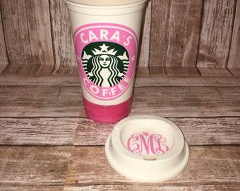 Coffee tumbler - Personalized coffee travel mug -