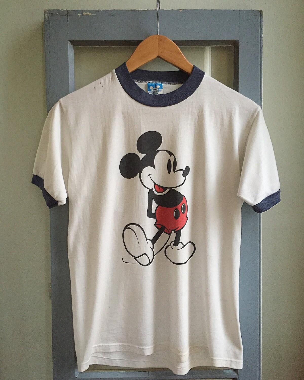 vintage mickey mouse t shirt. Black Bedroom Furniture Sets. Home Design Ideas