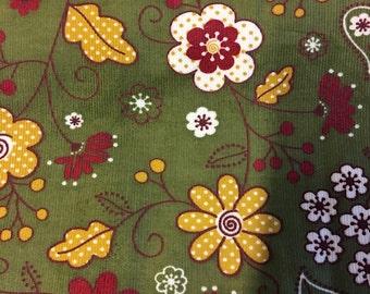 Floral corduroy print