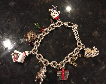 Brighton Bay Holiday Frolic Charm Bracelet