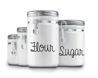 Kitchen Flour Container Canister Decals