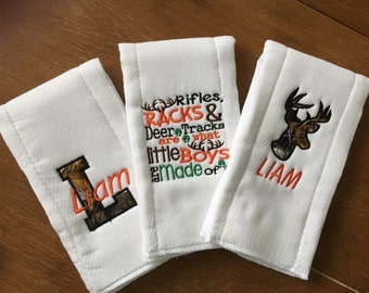 3 Burp Cloth Set