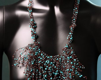 Blue Mane Styled Necklace