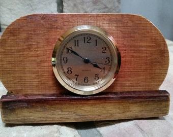 Wine Stave Desk Clock