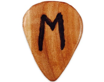 Handmade Wood Guitar Pick with Engraving