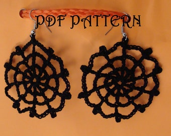 Crochet Cobweb Earrings PDF Pattern