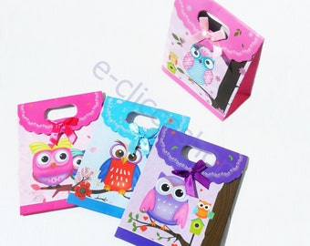 Bag for jewelry series owls 4 pcs assorted