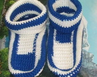 Hand crochet adult slippers