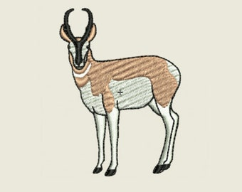 Pronghorn Antelope Embroidery Design