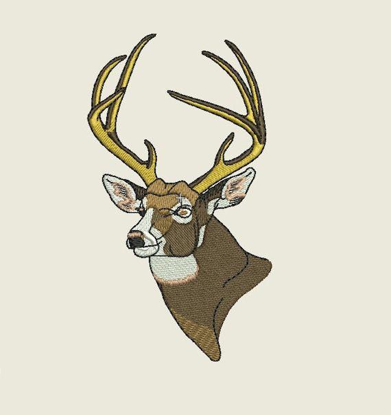 Deer embroidery design by sx on etsy