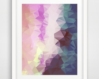 Modern wall art, triangles print, abstract wall art, scandinavian art, wall art prints, living room art, geometric art, cheap wall art