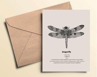 Dragonfly Note Cards - Set of 10 With Envelopes