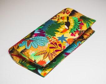 Color Florest Print Clutch Bag