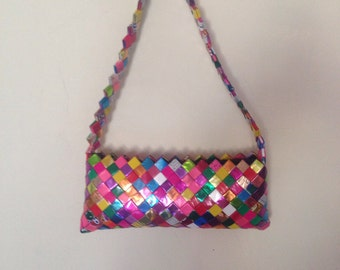 Vintage Handmade Candy Wrapper Purse