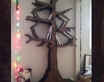 Handmade Tree Bookshelf or Wine Rack; Perfect for the Reader in Your Life!