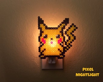 Pikachu   Style II   Pokemon Inspired   Nightlight   Wall Decoration   Size Medium
