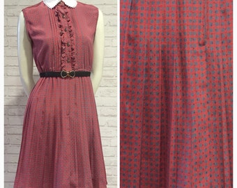 1980s Vintage Japanese Dress, S-M size, Style No. N2009
