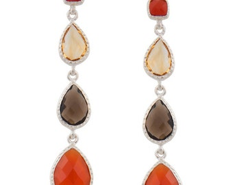 4 Gemstones Earrings