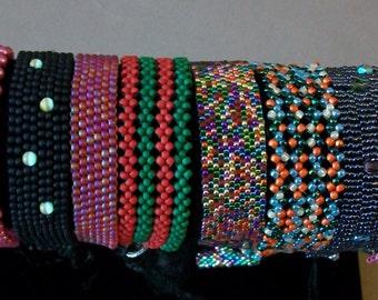Hubble and peyote stitch bracelets
