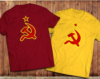 CCCP Russian T-Shirt, Communism, Soviet Union, Hammer and sickle, KGB