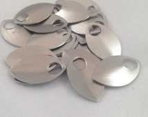 100 Small Brushed Silver scales- Anodized Aluminum