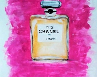 Chanel No. 5 Painting - Acrylic - ORIGINAL - A3 size
