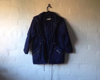beautiful blue warm jacket