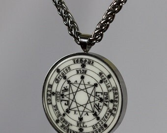 talisman GREAT SOLOMON KEY amulet stainless steel set - pendant + chain wicca high quality kaballah