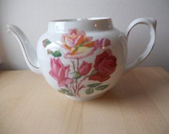 1930s Floral Teapot