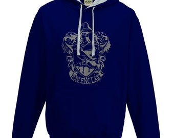 Harry Potter Ravenclaw house Quidditch hoodie in navy blue and grey
